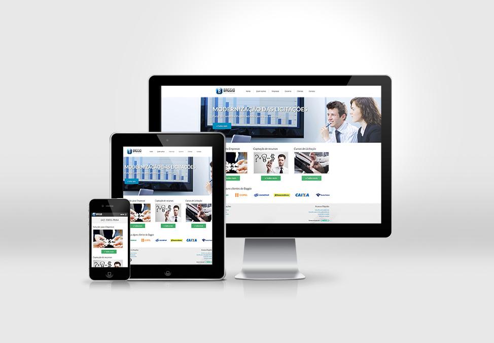 Site desenvolvido para empresa Baggio Licitações