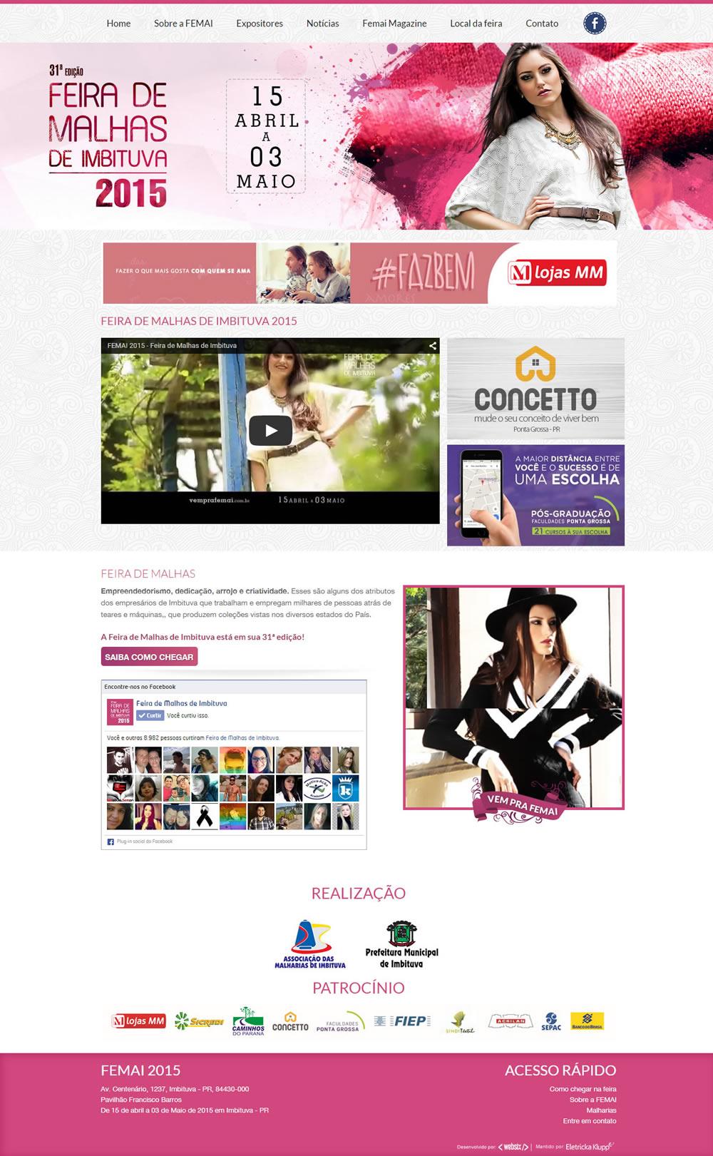 Site desenvolvido para Femai2015