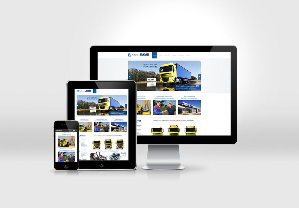 Site desenvolvido para empresa DafMacponta