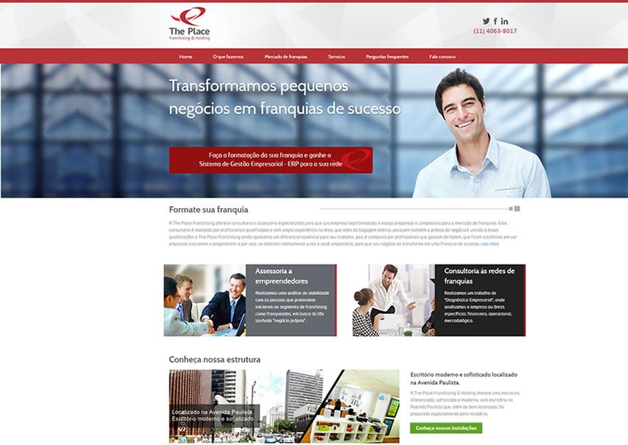 Site desenvolvido para a empresa The Place Franchising