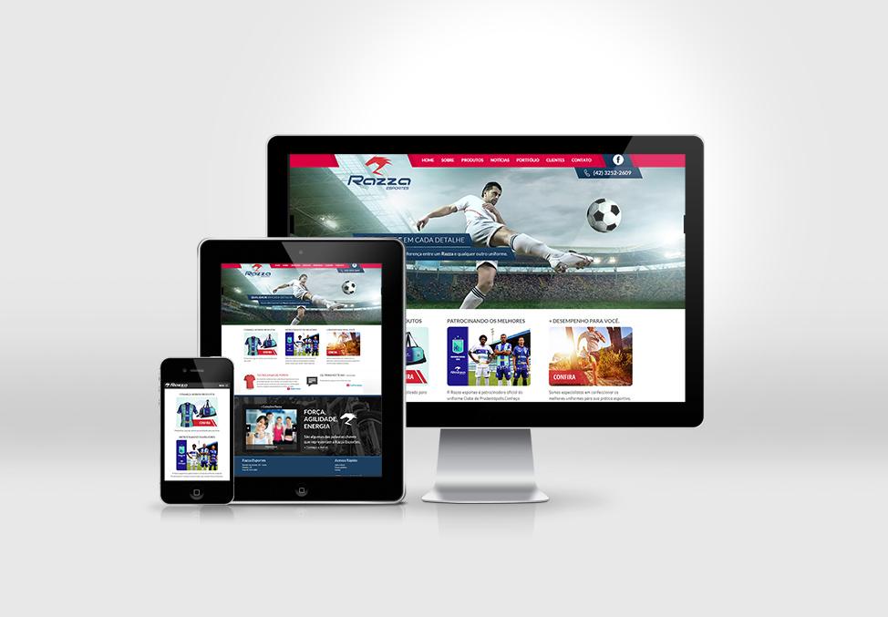 Site desenvolvido para a empresa Razza Esportes