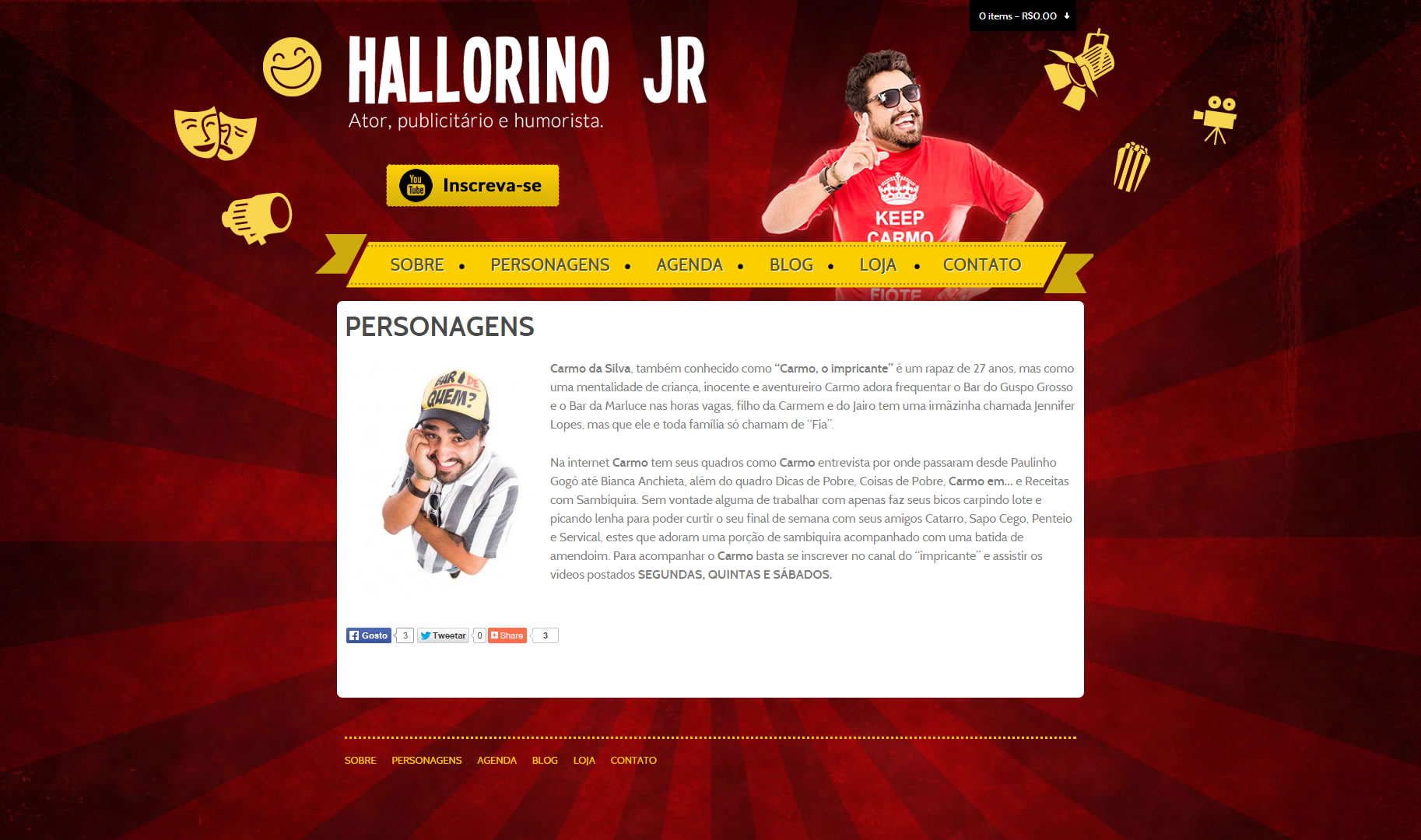 Layout desenvolvido para Hallorino JR